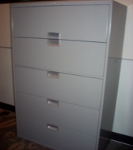 Steelcase Eggplant 5-Drawer Lateral File